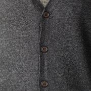 Aqualaguna - Gilet con bottoni sul fronte in lana Merinos pettinata