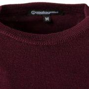 Aqualaguna - Maglione paricollo in lana merinos pettinata - dettaglio fronte