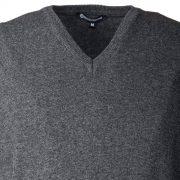 Gilet scollo a V in lana Merinos pettinata e cashmere - dettaglio fronte