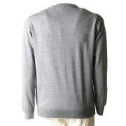Aqualaguna - Maglione scollo a V in lana Merinos pettinata - retro